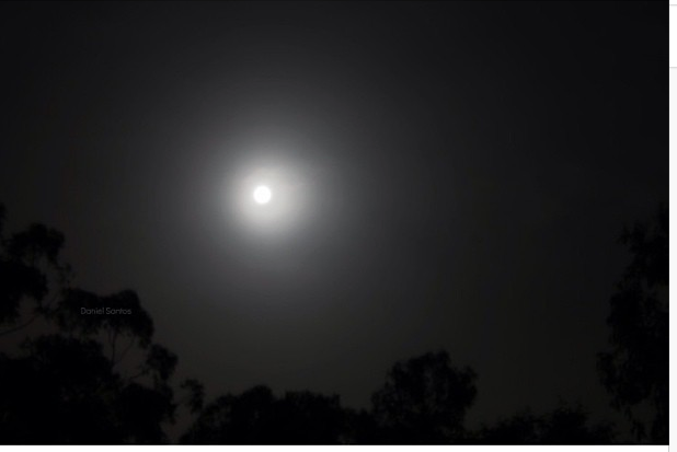 Saw the Supermoon in Brisbane / Vi a super-lua em Brisbane