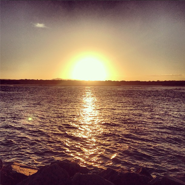 Saw this amazing sunset at Noosa / Vi este por-do-sol maravilhoso em Noosa