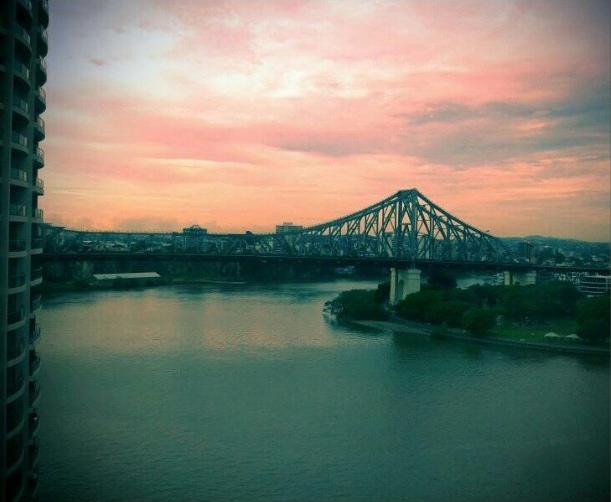 My favorite view from Brisbane that I still miss so much / Minha vista favorita de Brisbane, que até home eu ainda sinto saudade