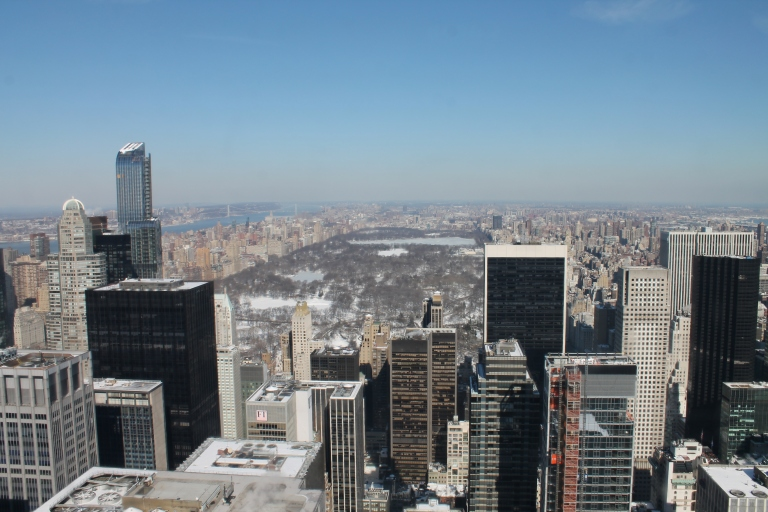 Snow-covered Central Park, seen from the Top of the Rock / Central Park coberto de neve, visto do Top of the Rock